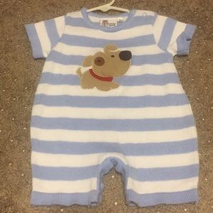 Knit shower me with love puppy romper